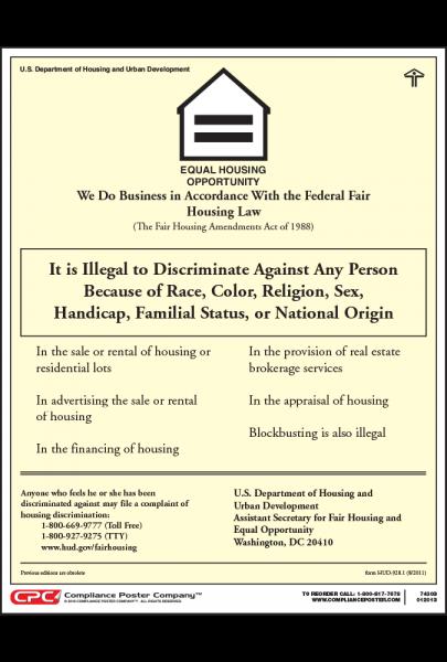Fair Housing Poster