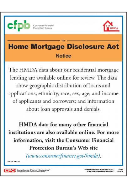 Home Mortgage Disclosure Act Poster