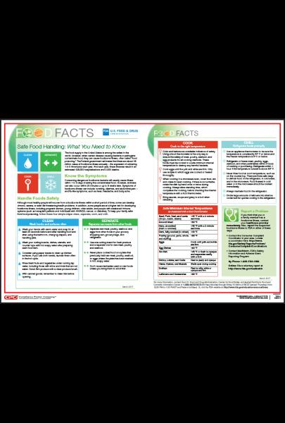 FDA Safe Food Handling Poster