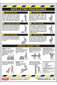 Federal Safe Lifting Poster