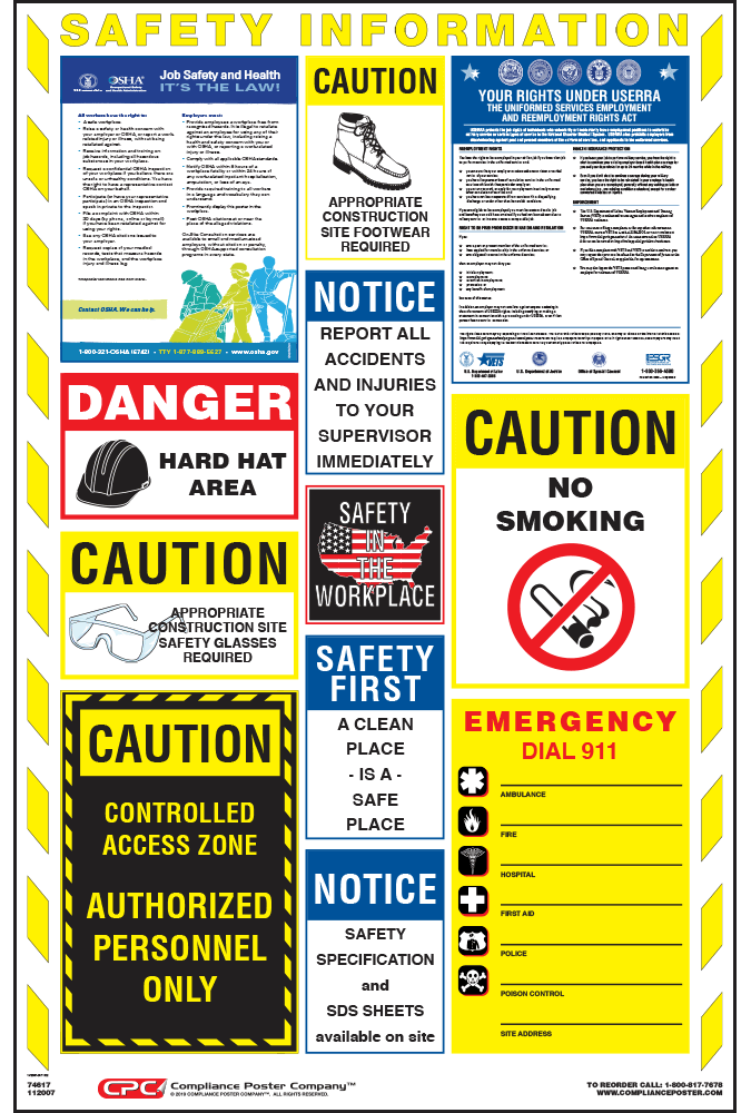 Construction Safety Poster