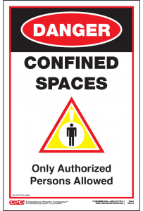 Confined Space Danger Sign