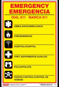 Federal Bilingual Emergency Number Poster