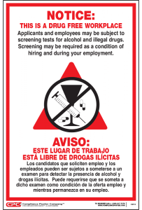 Drug Free Workplace Bilingual Poster