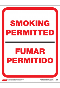 Federal Smoking Permitted Poster - Bilingual