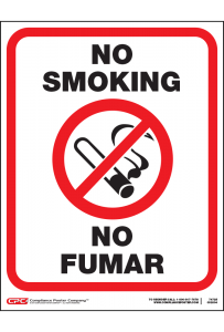 Small No Smoking Poster - Bilingual - 8.5 x 11