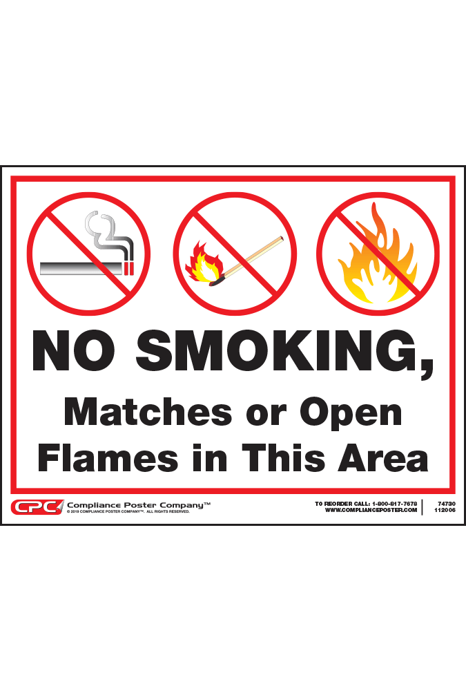 No Smoking Matches or Open Flames Poster
