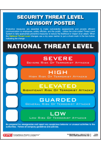 National Threat Advisory Poster