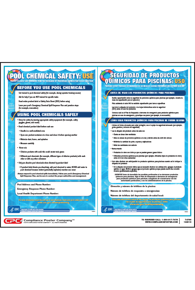 Pool Chemical Safety Bilingual Poster