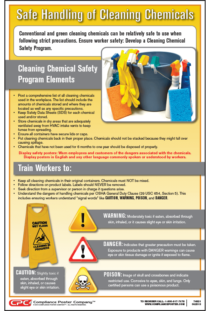 Cleaning Chemical Safety Poster