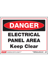Dangel Electrical Panel Area Sign