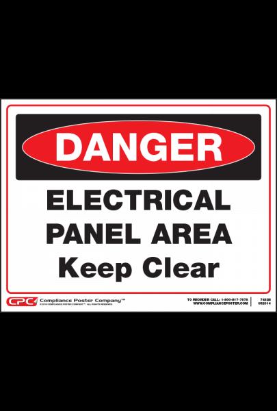Dangel Electrical Panel Area Sign