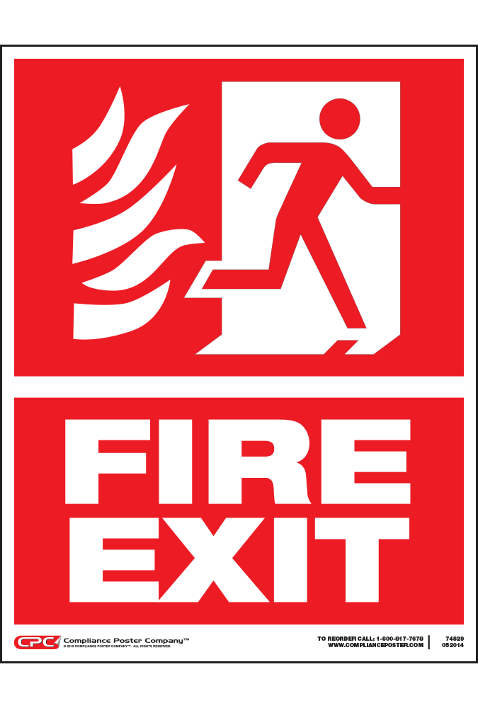 Fire Exit Posters - Poster for Fire Exit