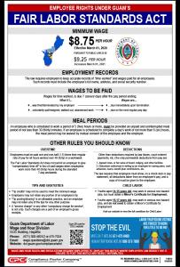 Guam Minimum Wage Poster