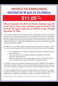 2019 Florida Minimum Wage Peel 'N Post - Mobile
