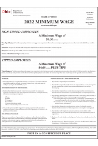 2019 Ohio Minimum Wage Poster - Peel 'N Post for English Mobile Poster Pak