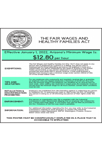 2018 Arizona Minimum Wage Peel 'N Post