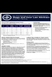 2018 New Jersey Minimum Wage Peel 'N Post