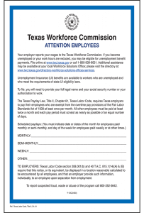 Texas Unemployment & Pay Day Law Peel 'N Post