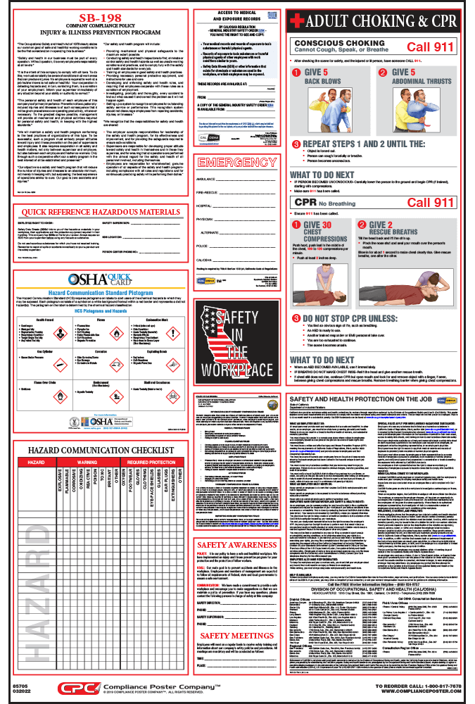 California OSHA Safety Poster