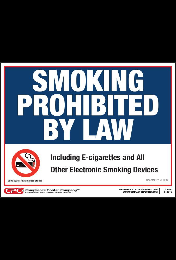 Hawaii No Smoking Poster
