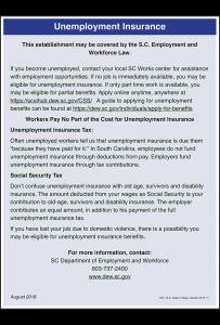 2018 South Carolina Unemployment Insurance Poster Peel 'N Post - Mobile Poster Pak