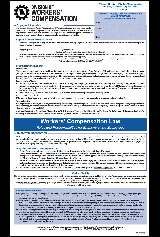 2017 Missouri Workers' Compensation Peel 'N Post