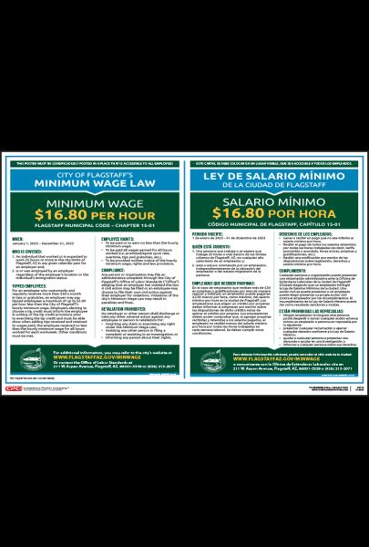 2021 Flagstaff Minimum Wage Poster - Bilingual