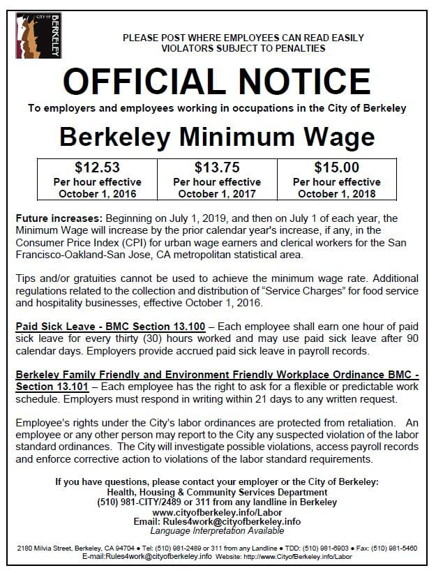 Berkeley Adopts Paid Sick Leave and Workplace Flexibility Laws