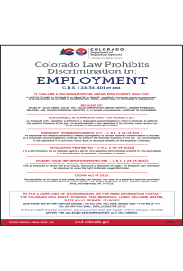 2016 Colorado Anti-Discrimination Peel 'N Post