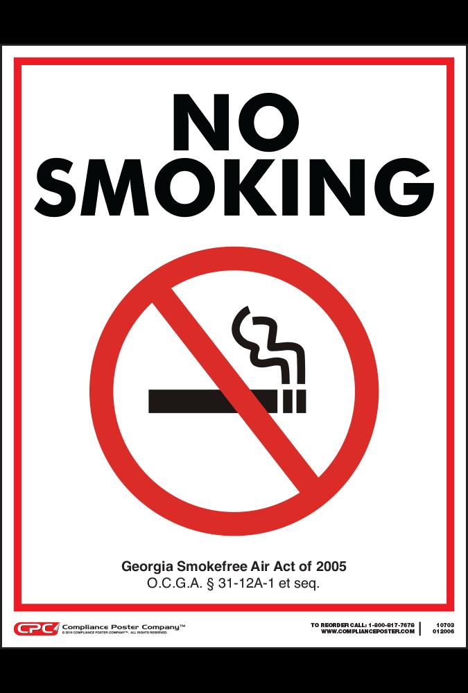 Georgia No Smoking Poster