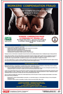 Virginia Workers' Compensation Fraud Poster