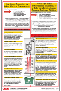 Indoor Heat Stress Illness Prevention Poster