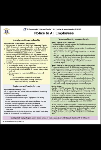 Rhode Island Unemployment Insurance Peel 'N Post