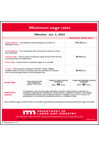 2020 Minnesota Minimum Wage Peel 'N Post