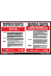 Federal Minimum Wage Contractors Poster