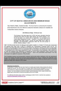 SeaTac Minimum Wage Poster