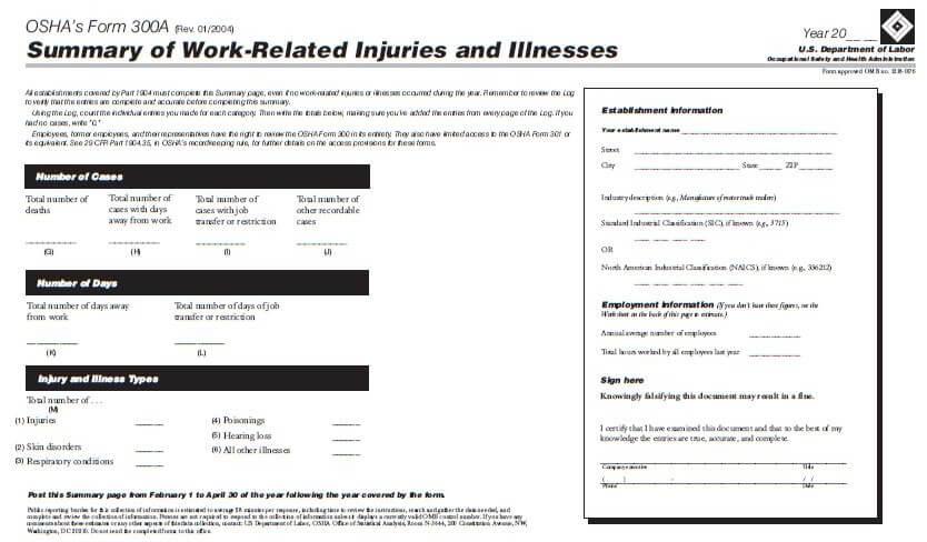 Are You Ready? OSHA Form 300A Posting Deadline is February 1