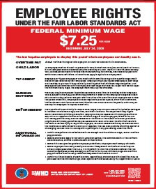 Employee Rights Under the FLSA Notice