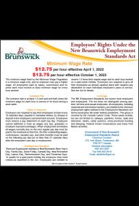 New Brunswick 2018 Minimum Wage Peel 'N Post