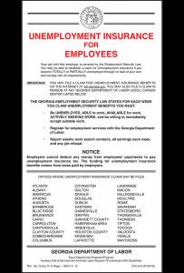 2018 Georgia Unemployment Notice Peel 'N Post