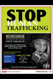 Maine Human Trafficking Poster