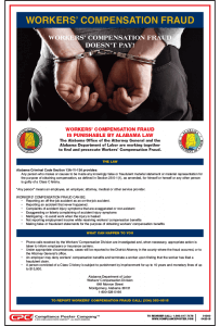 Alabama Workers' Compensation Fraud Poster