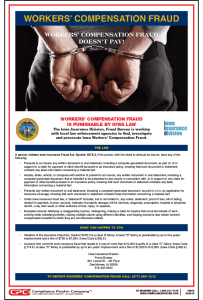 Iowa Workers' Compensation Fraud Poster