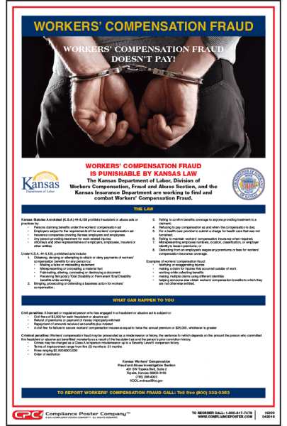 Kansas Workers' Compensation Fraud Poster