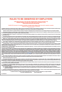 2018 Nevada Rules To Be Observed By Employers Peel 'N Post - Poster
