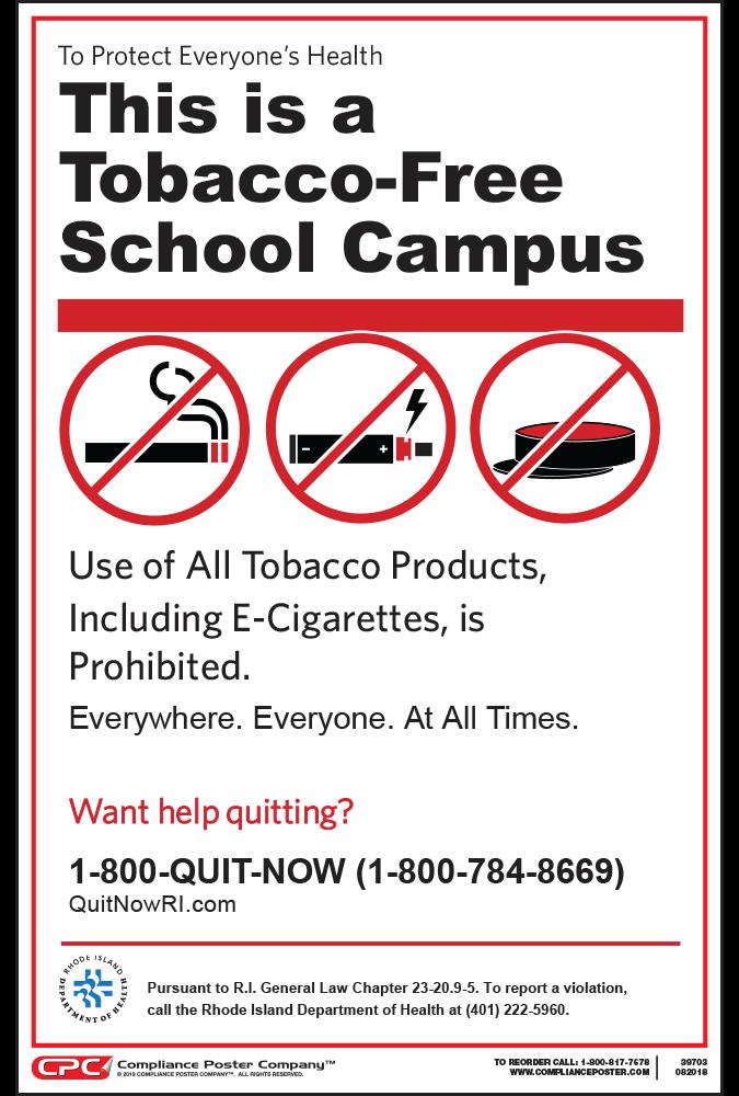 Rhode Island No Smoking in Schools Poster