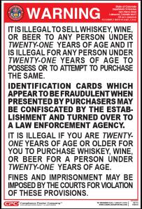 Colorado Drinking Age Poster