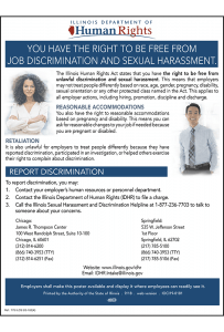 Illinois Job Discrimination and Sexual Harassment Poster Peel 'N Post - Mobile Poster Pak