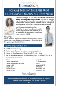 Illinois Job Discrimination and Sexual Harassment Poster Peel 'N Post